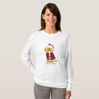 Personalized Christmas Goldendoodle Santa Claus T-Shirt