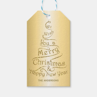 Personalized Christmas greeting design Gift Tags