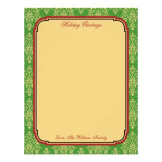 Personalized Christmas Holiday Stationary Paper