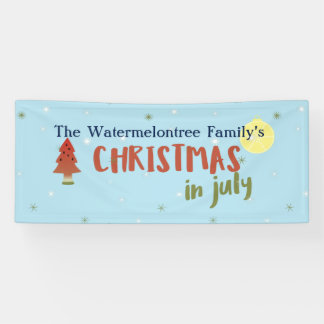Personalized Christmas in July Banner