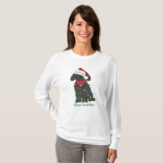 Personalized Christmas Lights Labradoodle T-Shirt