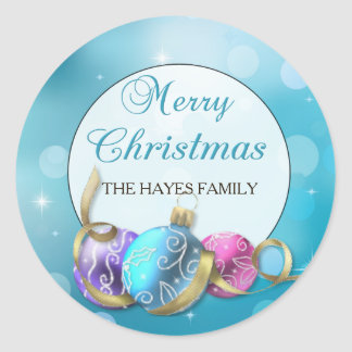 Personalized Christmas Ornaments Stickers