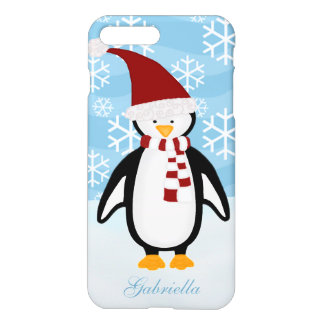 Personalized Christmas Penguin Case