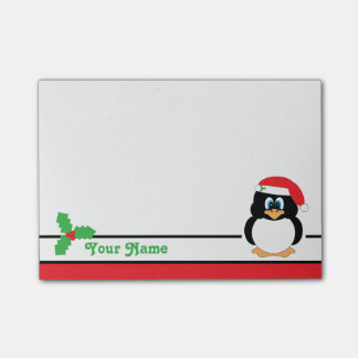 Personalized Christmas Penguin Post-it® Notes