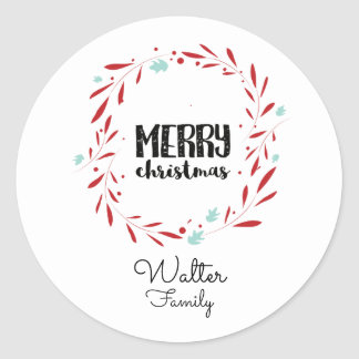 Personalized Christmas Stickers