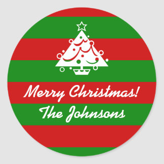 Personalized Christmas stickers | Xmas gift tags