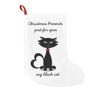 Personalized Christmas Stocking for black cats