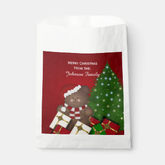 Personalized Christmas Teddy Bear Favour Bags