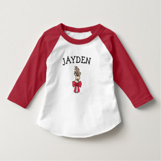 Personalized Christmas Toddler Shirt with Rudolph