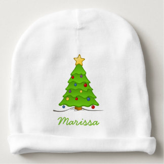 Personalized Christmas Tree Baby Beanie