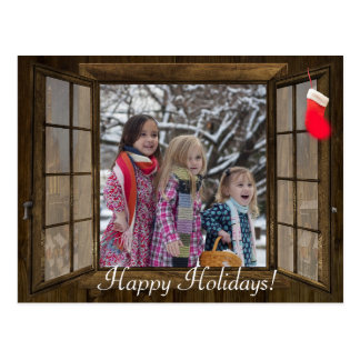 Personalized Christmas Window Family Photo card