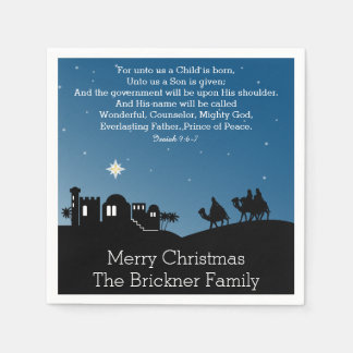 Personalized Christmas Wise Men Bethlehem Disposable Napkins