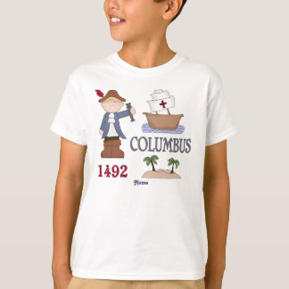 Personalized Christopher Columbus History Buff T-Shirt