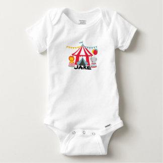 Personalized Circus Theme Birthday Baby Body Suit Baby Onesie