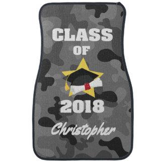 Personalized Class of 2018 Cap and Diploma Camo Car Mat