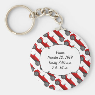 Personalized Classic Baby Boy Stat Gifts Basic Round Button Keychain