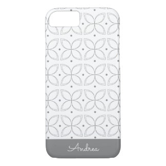 Personalized Classic Grey Pattern iPhone Case
