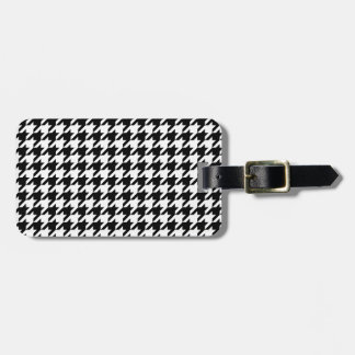 Personalized Classic houndstooth pattern Dogstooth Luggage Tag