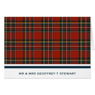 Personalized Classic Red Scottish Tartan Card
