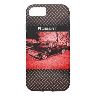 Personalized Classic Truck & Diamond Plate - iPhone 8/7 Case