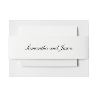 Personalized Classic Wedding Script Invitation Belly Band