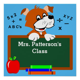 Personalized Classroom Art Posters