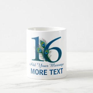 Personalized classy 16th birthday 16 mug