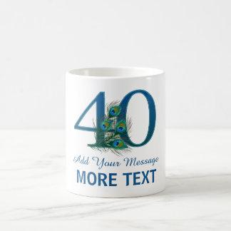 Personalized classy 40th birthday 40 mug