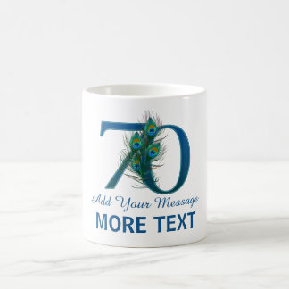 Personalized classy 70th birthday 70 mug