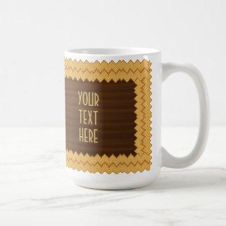 Personalized Classy Wood Inlay Coffee Mug