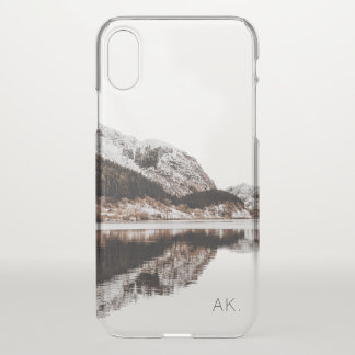 Personalized Clear iPhone X case   Mountains