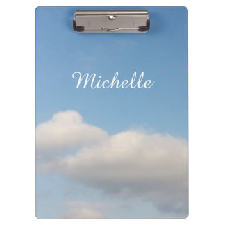 Personalized clipboard | Blue sky and white clouds