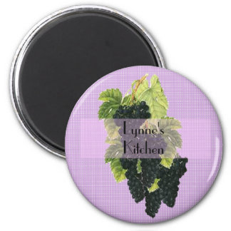 Personalized Cluster of Grapes magnet