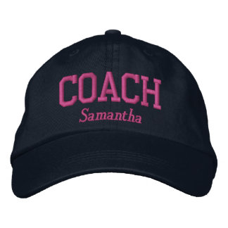 Personalized Coach in Hot Pink Embroidered Hats