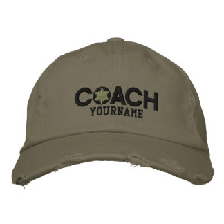 Personalized Coach Snowflake Military Style Embroidered Hat