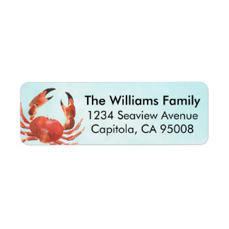 Personalized Coastal Crab