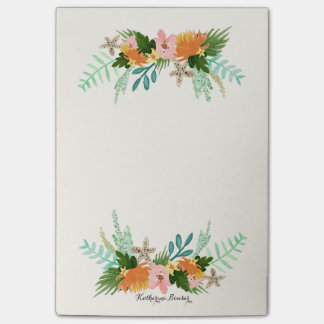 Personalized | Coastline Floral Post-it Notes