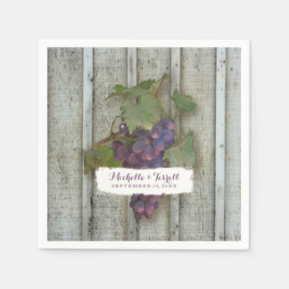 Personalized Cocktail Party Decor Wine Grape Theme Disposable Napkin