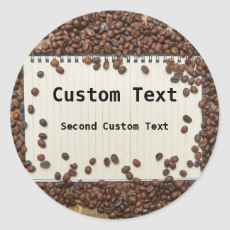 Personalized Coffee Journal Label