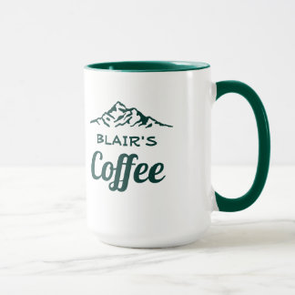 Personalized Coffee Mug with Mountains