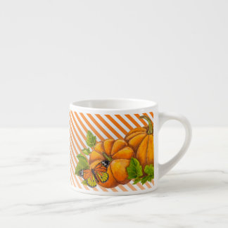 Personalized Coffee Mug with Pumpkin and Stripes