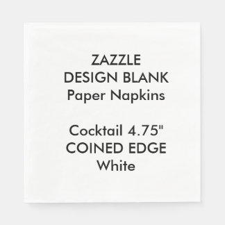 Personalized Coined Edge Cocktail Paper Napkins