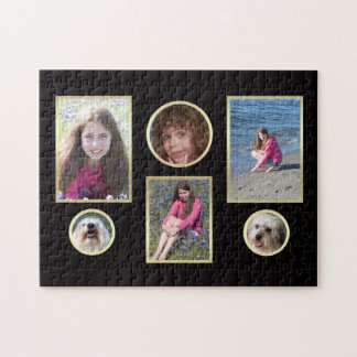 Personalized Collage Six Photo Puzzle