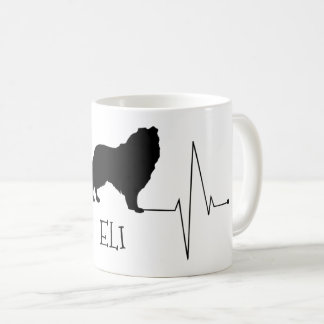 Personalized Collie Love My Dog Heart Beat Coffee Mug