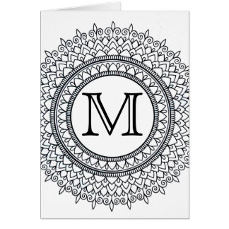 Personalized Color It Yourself Intricate Mandala Card
