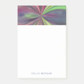 Personalized Color Swirl of Blue, Green and Magent Post-it® Notes