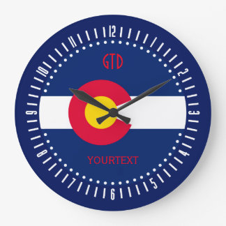 Personalized Colorado State Flag Design on a Large Clock