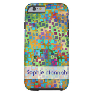 Personalized, Colorful Abstract Art Confetti Tough iPhone 6 Case