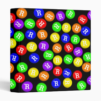 Personalized Colorful Candy Coated Chocolates Binder