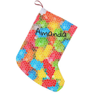 Personalized Colorful Chic Pattern Small Christmas Stocking